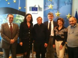 Med Luigi Ciotti, grundare av Libera