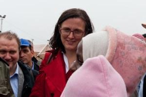 Cecilia Malmströms besök av flyktingläger i Tunisien mars 2011