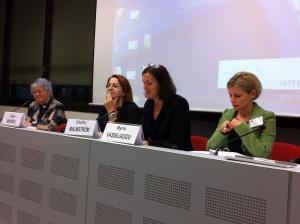 Eleni Mavrou, Edit Bauer, Cecilia Malmström och Myria Vassiliadou