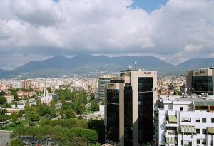 Tirana from above (c) Lvovsky Creative commons flickr