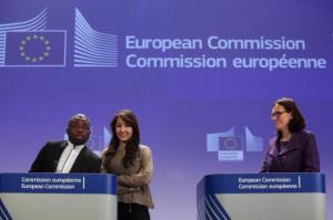 Från presskonferensen. Photo: EbS