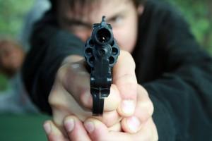 Pointing gun, cseward/ Flickr