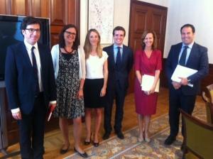 Möte med parlamentsutskott i Madrid