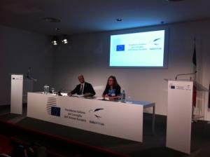 Presskonferens med minister Alfano i Milano