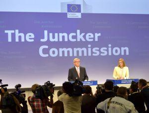 Kommissionens tillträdande ordförande Jean-Claude Juncker på onsdagens presskonferens. Foto: EU-kommissionen