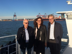 Gbg hamn med Olle Ludvigsson (S) och Magnus Kårestedt, vd